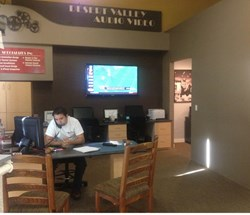 Owner Justin Worley at the office of Desert Valley Security