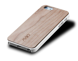 AViiQ Wood Trim Thin Series iPhone 5S/5 Cases - White