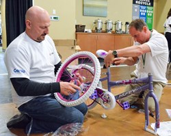 charitable bike build teambonding