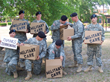 military care package charitable team building