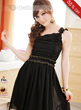 Modern Plait Chiffon One Shoulder Dress