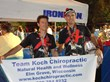 Dr. Mark Koch and friend Ed Wierzbicki celebrate after finishing the 2013 Wisconsin IRONMAN.