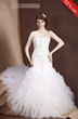 Pretty Strapeless Beaded Sleevless Wedding Dress
