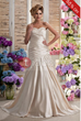Awesome A-line Sweetheart Floor-length Ruffling Appliques Nastya Wedding Dress