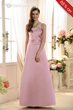 Charming Ruched A-Line Strapless Floor-Length Bridesmaid Dress