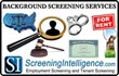 ScreeningIntelligence.com Creates New Background Records Products Page...