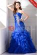 Trumpet Floor-Length Sweetheart Applique Evening Dress