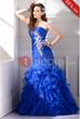 Trumpet Floor-Length Sweetheart Applique Evening Dress