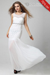 Chic Pretty Round Neck Straped Shinnning Floor Length Evening Dress