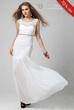 Chic Pretty Round Neck Straped Shinnning Floor Length Evening Dress