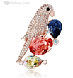 Charming Unique Designed CZ Diamond Brooch Pins