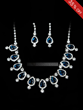 Shining created Clear Crystals Wedding Bridal Jewelry Set