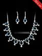 Shining created Clear Crystals Wedding Bridal Jewelry Set