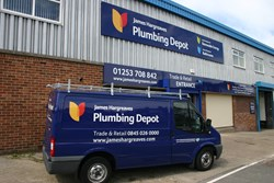 Blackpool Plumbing Depot branch and van