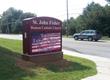 St John Fisher LED Church Sign