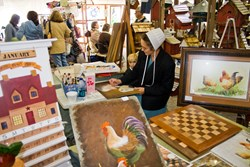 Amish painter displays her skills and products at the Shipshewana Fall Crafters Fair