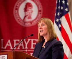 Lafayette inauguration ]of Alison R. Byerly focuses on future of higher education.