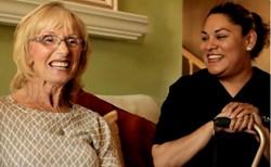 Epi Martinez with a Long Time Client of Amada Senior Care