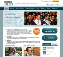 Recent Custom Website Design for Crossing Cultures International