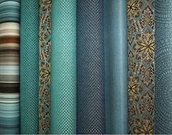 Sampling of Anzea Blue Trend Textiles