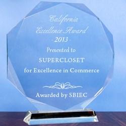 SuperCloset receives the California Excellence Award 2013