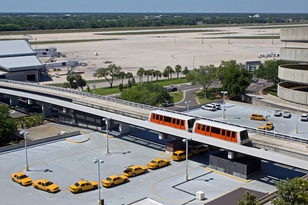 Flughafen Tampa Ankunft