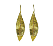 Gold Leaf Earrings by Jessica Surloff. 18K gold and diamond accents