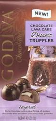 Godiva Chocolatier Dark chocolate Lava Cake Dessert Truffles