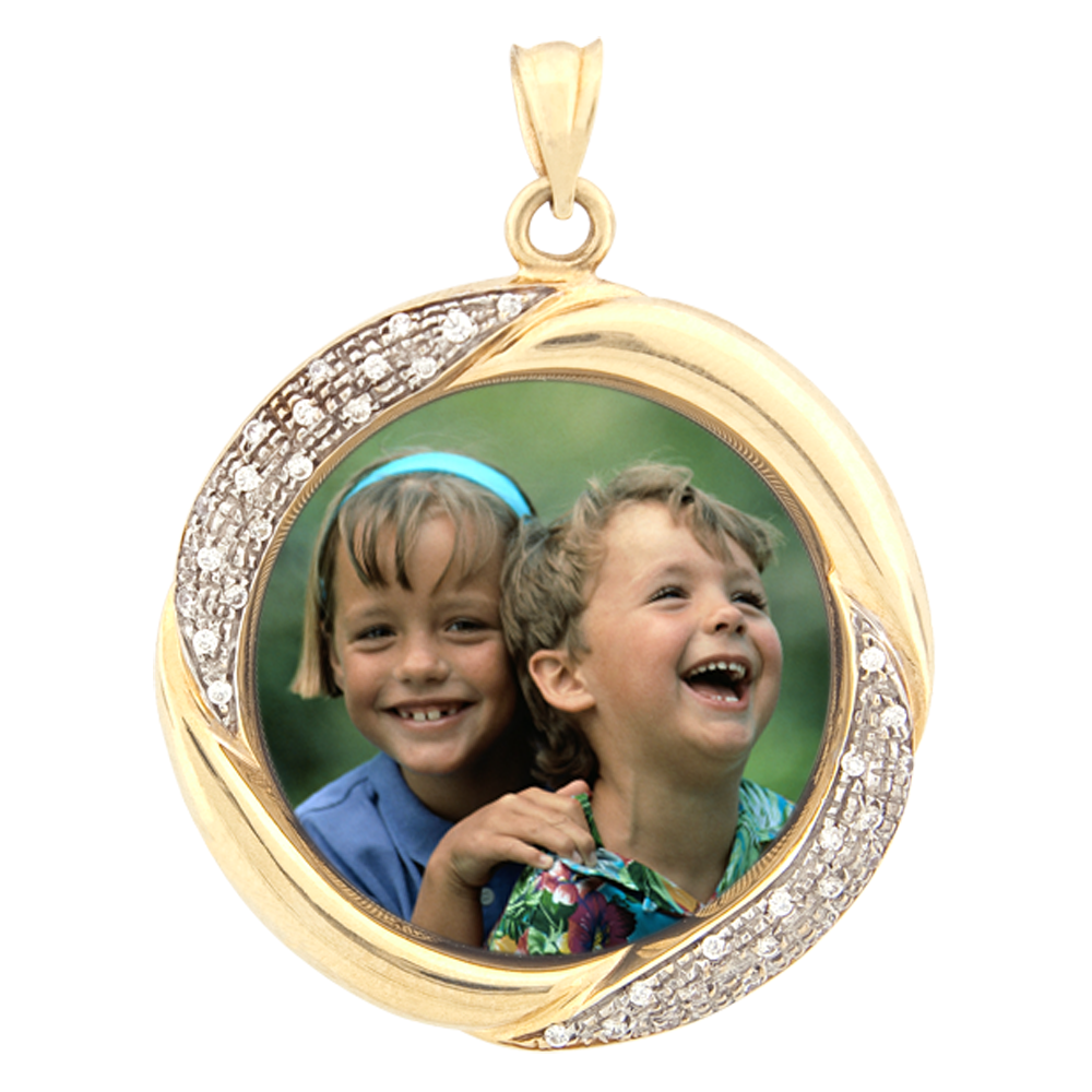 Gold Silver And Diamond Photo Jewelry Using Patented