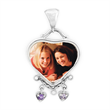 Heart Mother's Pendant by PhotoScribe. Sterling Silver and Birthstones