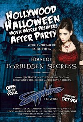 Hollywood Halloween World Movie Premiere After Party at Sapphire Las Vegas Oct. 9th