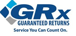 Guaranteed Returns logo & tagline - Service You Can Count On.