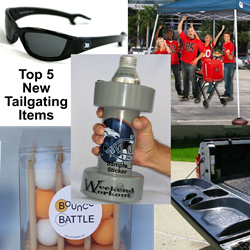 sunglasses, koozie, beer pong, bounce battle, beerbell, tailgator