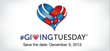 Save the Date, December 3, #GivingTuesday