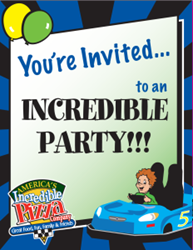 Kids Birthday Party Invitations - Indianapolis Incredible Buffet & Fun Center
