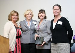Photo of Holbrook representatives receiving MHCA Innovating Programming Award
