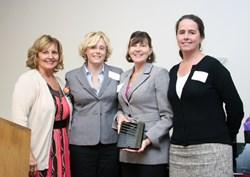 Photo of Holbrook representatives receiving MHCA Innovating Programming Award