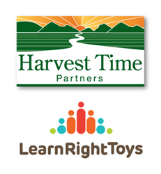 Harvest Time Partners Logo and LearnRight Toys Logo