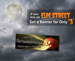 Shindigz offers $3 Banners for Halloween