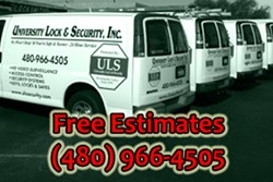 Complimentary Home Security System Estimates from University Lock & Security in Phoenix