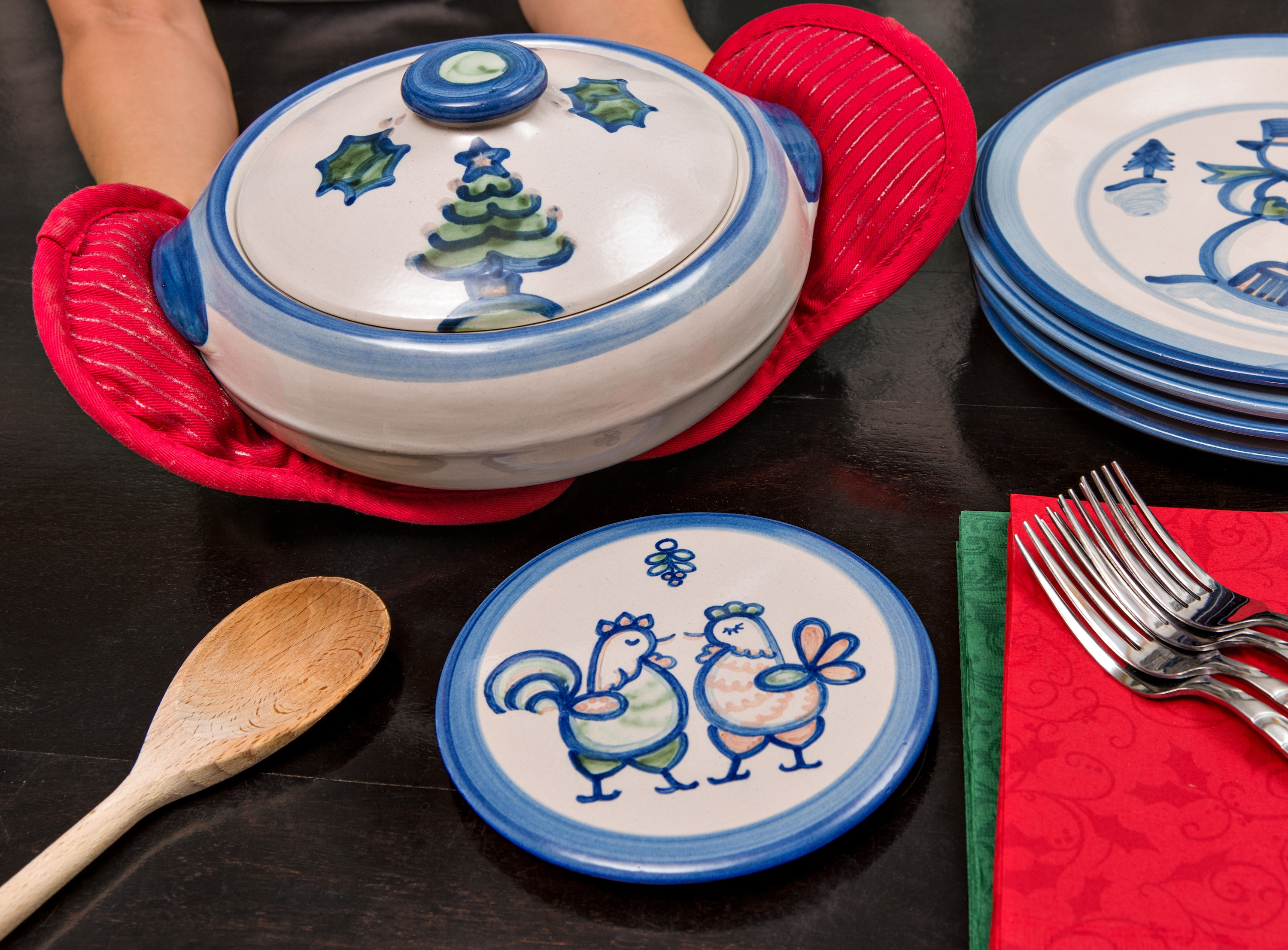 Hadley Pottery Country Christmas Collection 2013