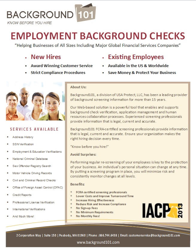 background101 announces a complimentary background