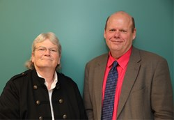 Rose Burke (L) was selected as the Associate Director, Patient Care Services and Dr. Michael Ladwig (R) was selected as the Chief of Staff at the Marion VA Medical Center.