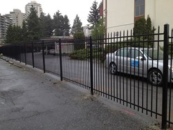 Steel Picket Fence by QS Fencing Company in Vancouver