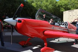 Finalist Jon Carmichael readies himself to fly an actual combat plane, at Las Vegas' Sky Combat Ace