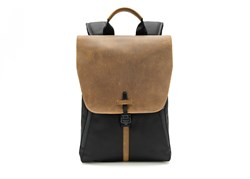 The Staad BackPack from WaterField Designs—black ballistic nylon with grizzly leather flap option