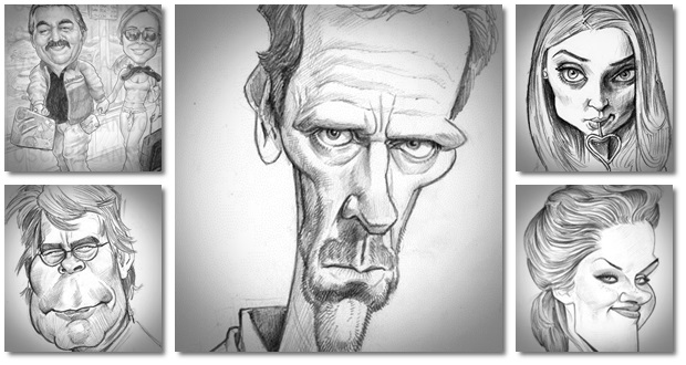 how to make a caricature drawing