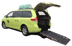 Toyota Sienna wheelchair taxi