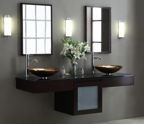 has introduced a guide to modern double bathroom vanities
