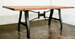 Nuevo Living HGDA110 - v4 dining table a leg in weathered oak